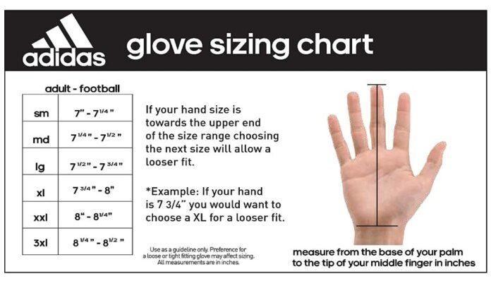 Adidas Goalie Glove Size Chart