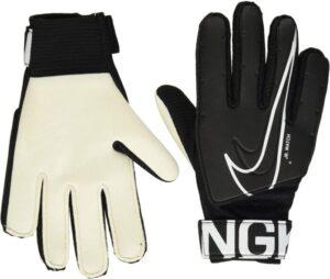 Nike Junior Goalkeeper Gloves Black And White Size 6