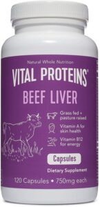 Grass-Fed Desiccated Beef Liver Pills - Vital Proteins