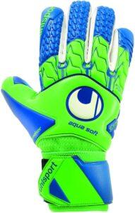 UHLSport AQUASOFT HN Negative Cut Wet Weather Grip Windbreaker Goalkeeper Gloves