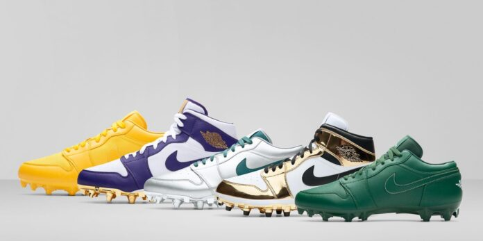 football cleats different sizes