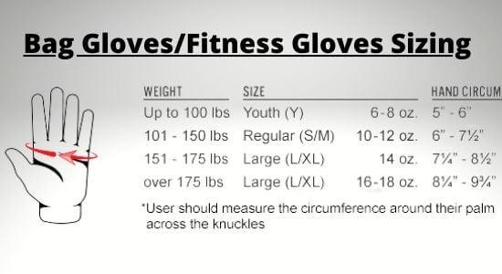 Bag-Gloves-Sizing-Boxing Gloves Sizing